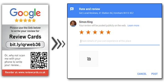 Review Cards - www.reviewcards.co.uk - get the 5 star reviews you deserve