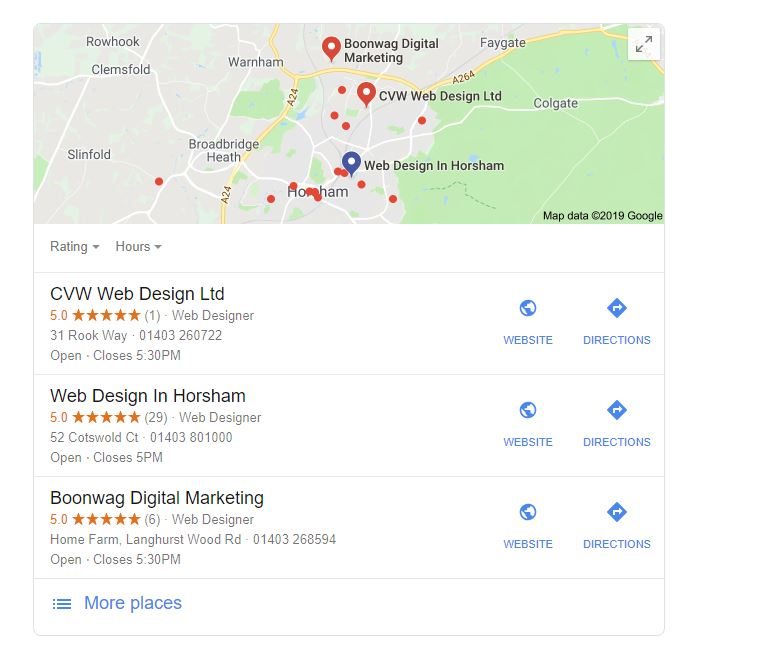 Are reviews on Google My Business more important than being top of Page One on Google.